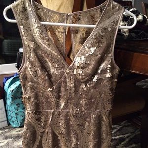 Adrianna Papell sparkling metallic dress